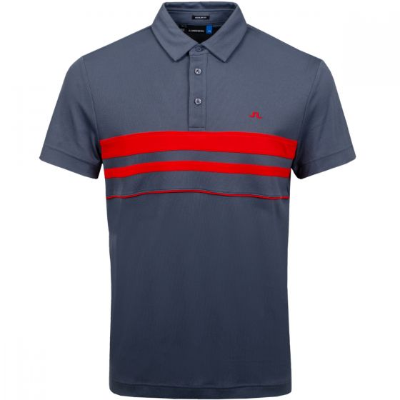 J.Lindeberg Men's Leo Lux Polo Shirt | Dark Grey