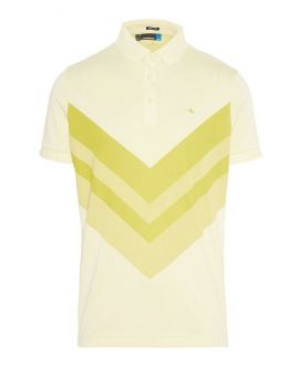 J.Lindeberg Ace TX Jaquard Polo | Pale Lime