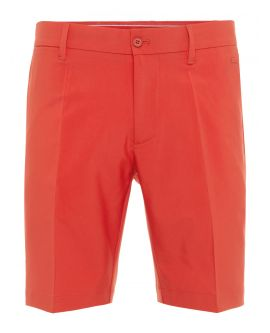 J.Lindeberg Men's Eloy Micro Stretch Shorts | Deep Red