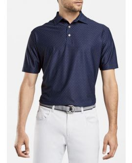 096f2982 Peter Millar Windemere Printed Foulard Stretch Mesh Polo