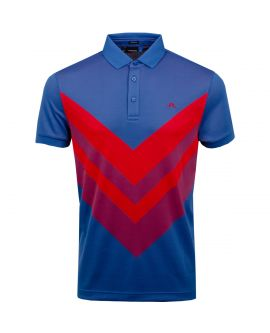 J.Lindeberg Ace TX Jaquard Polo | Work Blue