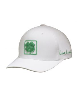 Black Clover Lucky Square Hat - White