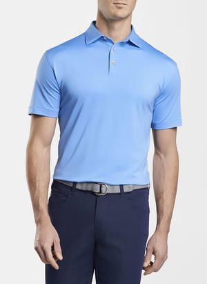 Peter Millar Solid Performance Polo   Liberty Blue