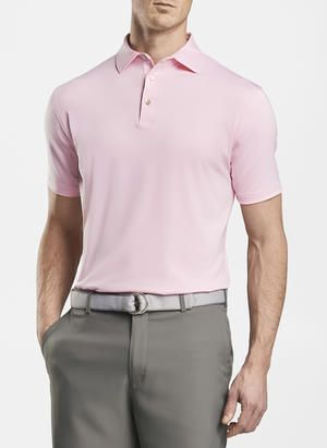 Peter Millar Solid Performance Polo | Palmer Pink